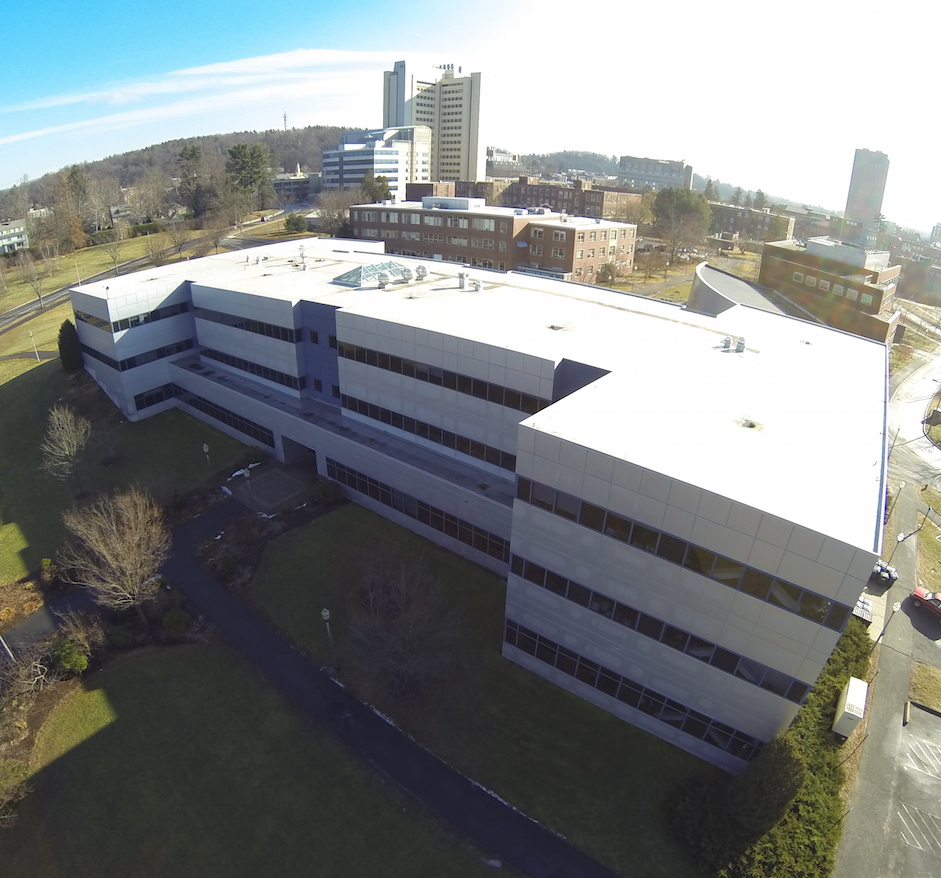 Aerial photo of computer science building